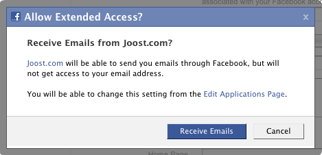 Facebook Connect - Email Permission